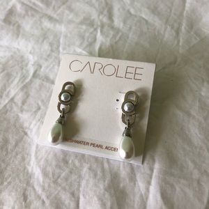 Carolee Freshwater Pearl Accents Earrings